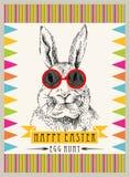 Hippie Pâques de lapin Image libre de droits