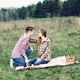 Hippie-Paare Lizenzfreie Stockfotografie