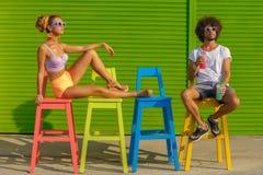 Hippie-Paare Lizenzfreies Stockfoto