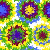 Hippie pattern with bright drops Stock Images