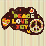 Hippie peace banner Stock Photos