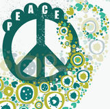 Hippie peace banner Royalty Free Stock Photos