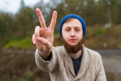 Hippie Peace Sign Royalty Free Stock Photography