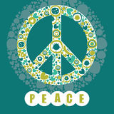 Hippie peace symbol Stock Images