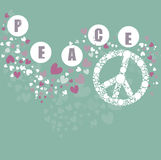 Hippie peace symbol Stock Photos