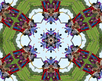 Hippie people kaleidoscope. Digital kaleidoscope image of a merry group of hippie people dancing Highly detailed. This is a series royalty free illustration
