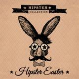Hippie Pâques - lapin de vintage Photo libre de droits