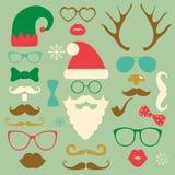 Hippie réglé de silhouette colorée de mode de Noël Image libre de droits