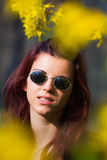 Hippie redhead woman Royalty Free Stock Photography