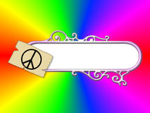 Hippie Retro Theme Royalty Free Stock Image
