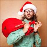 Hippie Santa Claus Stockfoto