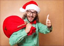 Hippie Santa Claus Stockbild