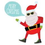 Hippie Santa Claus. Weihnachtshintergrund Lizenzfreies Stockfoto