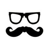 Hippie-Schnurrbart und -gläser stock abbildung