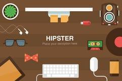 Hippie-Schreibtischtitel Lizenzfreie Stockfotografie