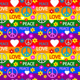 Hippie seamless pattern Stock Image