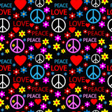 Hippie seamless pattern Royalty Free Stock Image