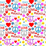 Hippie seamless pattern Stock Photo