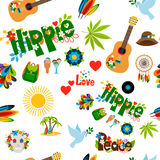 Hippie sign seamless pattern Royalty Free Stock Images