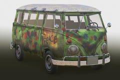 Hippie skåpbil 3d Royaltyfria Foton