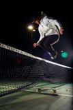 hippie skateboard άλματος Στοκ Εικόνες