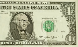 Hippie-Sonderling George Washington Lizenzfreies Stockbild