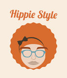 Hippie style design. Over pink background vector  illustration Royalty Free Stock Photography