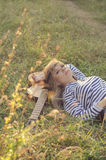 Hippie-style girl Stock Images