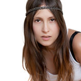 Hippie style portrait of a girl Stock Image