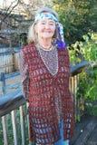 Hippie superior fêmea madura Fotografia de Stock