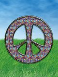 Hippie Symbol. Peace And Love Hippie Symbol Stock Photos