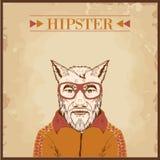 Hippie-Tier charcter stock abbildung
