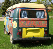 Hippie Van. A hippie Volkswagen van painted in bright colors Stock Images