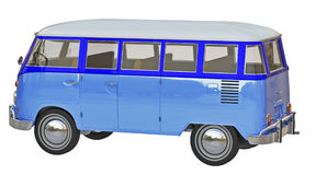 Hippie van 3d. In blue Royalty Free Stock Photos
