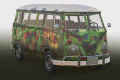 Hippie van 3d. Hippie van in colour 3d Royalty Free Stock Photos