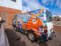 Hippie Van Imagem de Stock Royalty Free