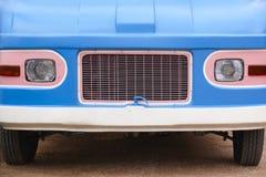 Hippie van front part. Retro vintage vehicle. Stock Image