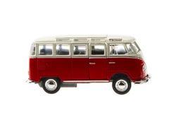 Hippie Van. Red hippie van isolated on white stock image