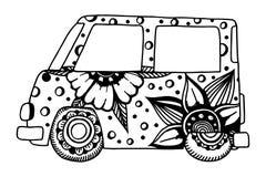 Hippie vintage car a mini van. Stock Image