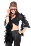 Hippie woman Stock Image