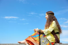 Hippie woman Stock Image
