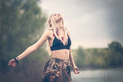 Hippie woman Stock Photography