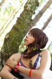 Hippie woman (girl) Stock Photo