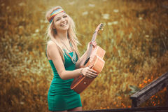 Hippie woman Royalty Free Stock Image