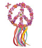 Hippie wreath Royalty Free Stock Images