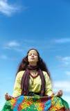 Hippie yoga Royalty Free Stock Photo