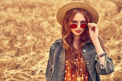 Free Hippie Young Woman Stock Photography - 157918372
