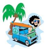 Hippiebestelwagen royalty-vrije stock fotografie