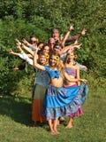Hippiefamilj Fotografering för Bildbyråer