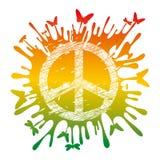hippiefredsymbol Royaltyfri Bild